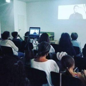 Personas viendo película