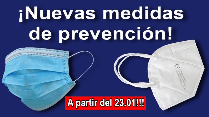 Nuevas medidas de prevención!