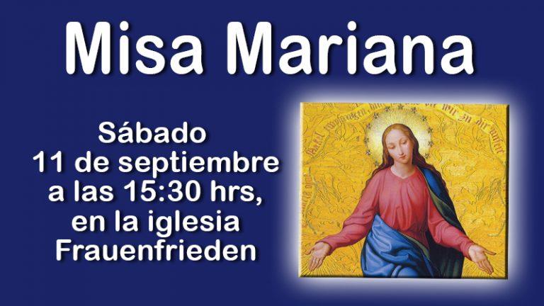 Santa misa mariana